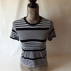 Forever 21 women's striped short-sleeve top